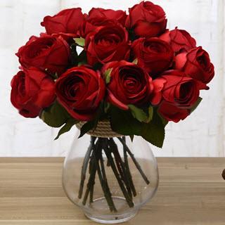 K nstliche rosen kunstblumen deko for Zimmer deko rosen